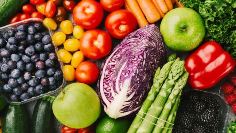 different tasty bio vegetables